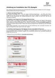 Installationsanleitung der Software 195 KB pdf - Suissetec