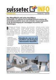 Das Metalldach und seine Anschlüsse 668 KB pdf - Suissetec