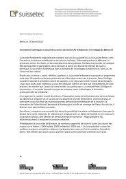 Communiqué de presse Berne, le 27 février 2013 ... - Suissetec