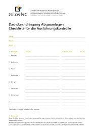 Checkliste Dachdurchdringung Abgasanlagen 243 KB pdf - Suissetec