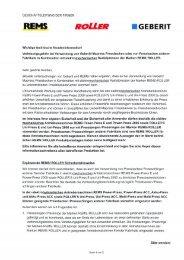 Rems Pressgeräte in Kombination mit Geberit/Mapress ... - Suissetec