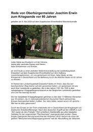 Rede von Oberbürgermeister Erwin am 8.5.2005 vor ehemaligen ...