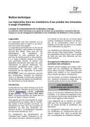 Légionelles dans les installations d''eau potable 37.8 KB ... - Suissetec