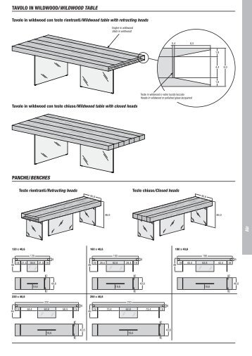 PANCHE/BENCHES TAVOLO IN WILDWOOD ... - Suite 22 Interiors