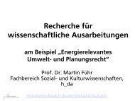 Recherche für wissenschaftliche Ausarbeitungen - Sozial- und ...