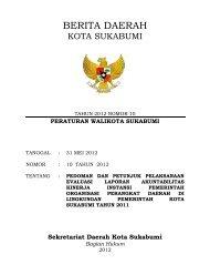 KEPUTUSAN WALIKOTA SUKABUMI - Pemerintah Kota Sukabumi