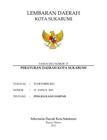 LEMBARAN DAERAH - Pemerintah Kota Sukabumi
