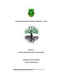 laporan akuntabilitas instansi pemerintah (lakip) - Pemerintah Kota ...