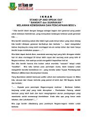 IKRAR STAND UP AND SPEAK OUT - Pemerintah Kota Sukabumi