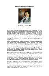 Mengapa Pemimpin itu Penting - Pemerintah Kota Sukabumi