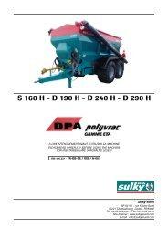 DPA Polyvrac S - Sulky Burel