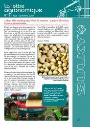 La lettre agronomique - Sulky