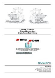 Notice Originale Original Instructions ... - Sulky Burel