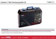 Werkzeuge & Pflegemittel | TBG Werkzeugkoffer 28 - Fahrrad-XXL
