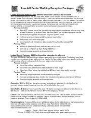 Iowa 4-H Center Wedding Reception Packages - Iowa State ...
