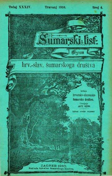 ÅUMARSKI LIST 4/1910