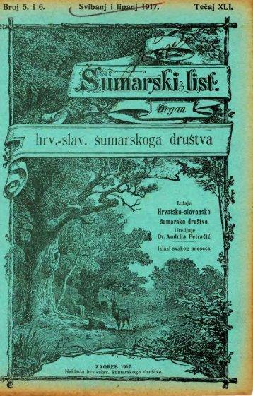 ÅUMARSKI LIST 5-6/1917