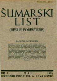 ÅUMARSKI LIST 5/1929