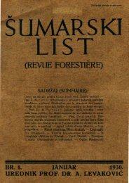 ÅUMARSKI LIST 1/1930