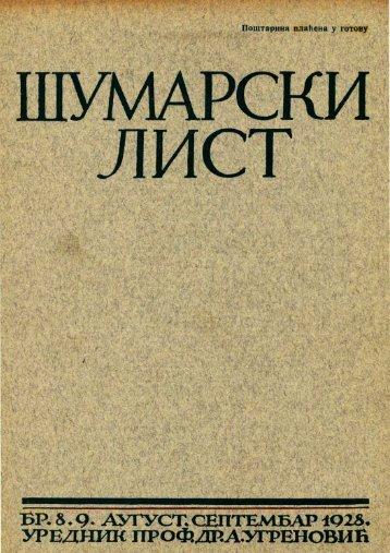 ÅUMARSKI LIST 8-9/1928