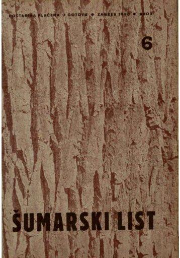 ÅUMARSKI LIST 6/1950