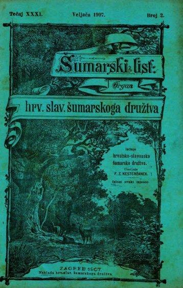 ÅUMARSKI LIST 2/1907