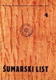 ÅUMARSKI LIST 4/1952