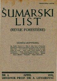 ÅUMARSKI LIST 4/1931