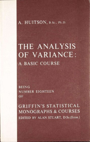 THE ANALYSIS OF VARIANCE: