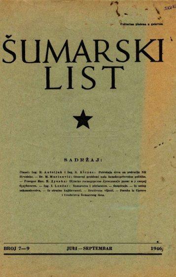 ÅUMARSKI LIST 7-9/1946