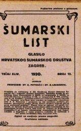 ÅUMARSKI LIST 12/1920