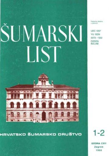 ÅUMARSKI LIST 1-2/1992