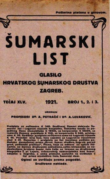 ÅUMARSKI LIST 1-3/1921