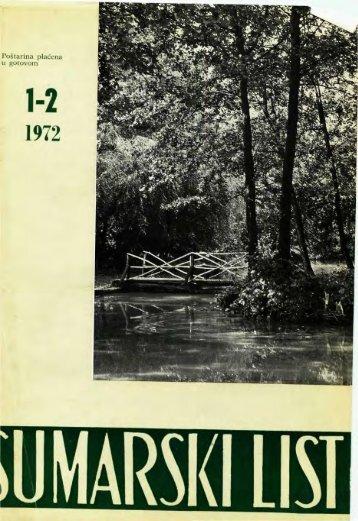 ÅUMARSKI LIST 1-2/1972