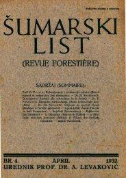 ÅUMARSKI LIST 4/1932