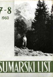 ÅUMARSKI LIST 7-8/1960