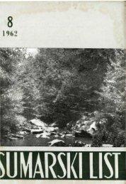 ÅUMARSKI LIST 8/1962