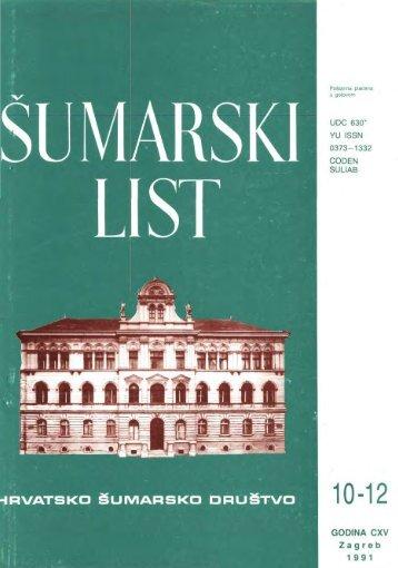 ÅUMARSKI LIST 10-12/1991 - HÅD