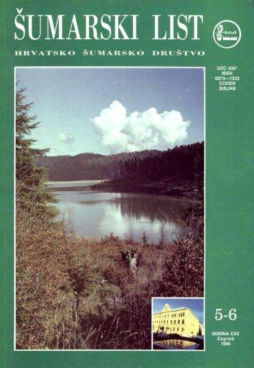 ÅUMARSKI LIST 5-6/1996