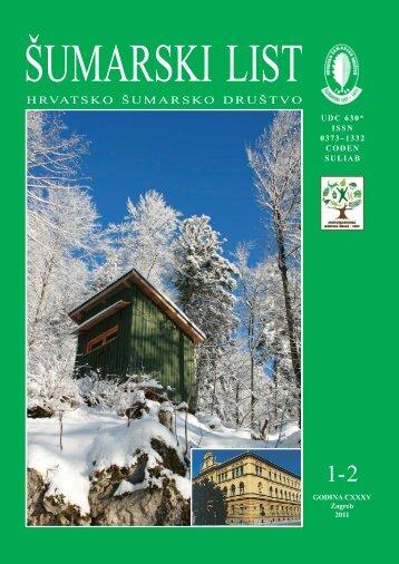 ÅUMARSKI LIST 1-2/2011 - HÅD