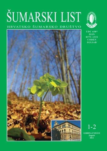 ÅUMARSKI LIST 1-2/2012. - HÅD