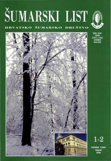 ÅUMARSKI LIST 1-2/2000 - HÅD