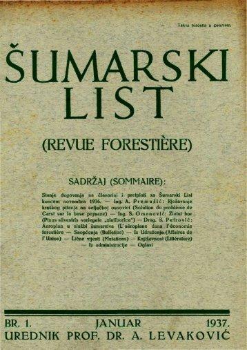 ÅUMARSKI LIST 1/1937