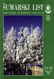 ÅUMARSKI LIST 11-12/2001 - HÅD