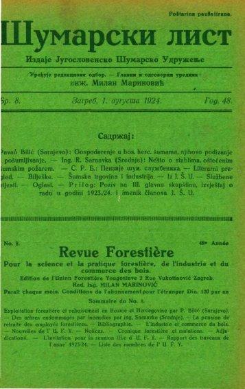 ÅUMARSKI LIST 8/1924