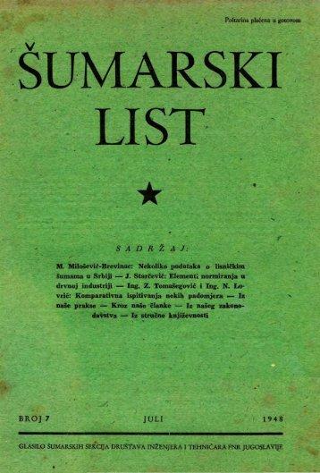 ÅUMARSKI LIST 7/1948