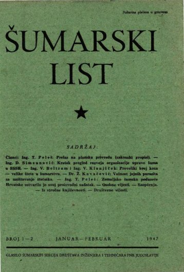 ÅUMARSKI LIST 1-2/1947
