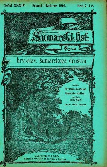ÅUMARSKI LIST 7-8/1910