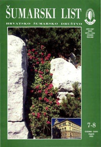 ÅUMARSKI LIST 7-8/2002 - HÅD