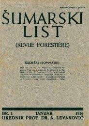 ÅUMARSKI LIST 1/1936